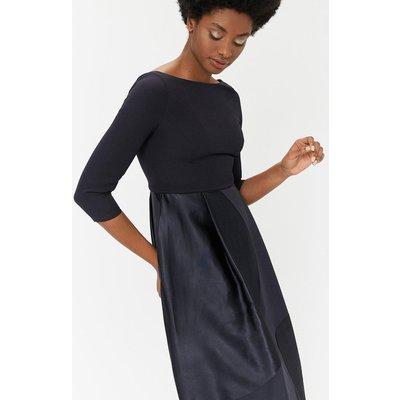 Curve Burnout Full Midi Dress Black, Black
