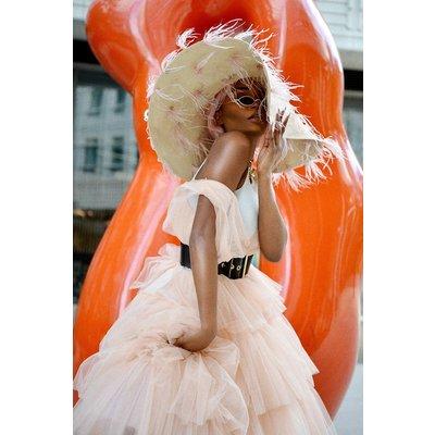 Tulle Maxi Bridesmaid Dress Pink, Pink