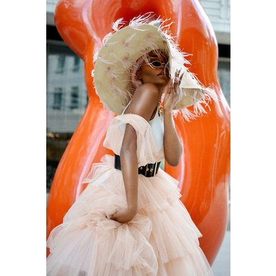 Tulle Maxi Dress Pink, Pink/Peach