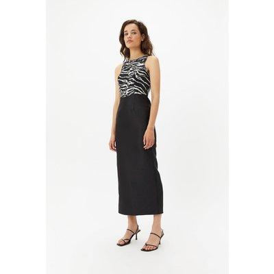 Zebra Embellished Maxi Dress Black, Black