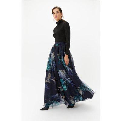 Floral Tulle Maxi Skirt Multi, Multi