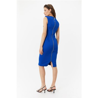 Curve Scuba Ruched Shift Dress Blue, Blue