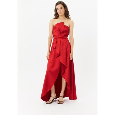 StructuRuffle Dress Red, Red