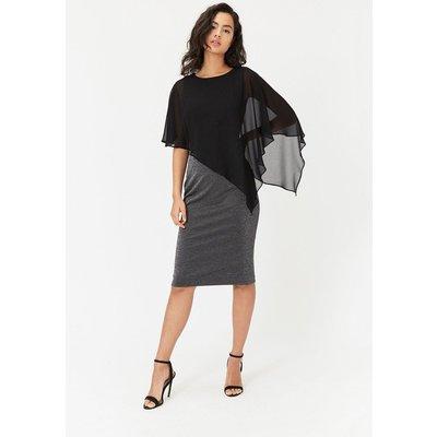 Overlayer Dress Black, Black