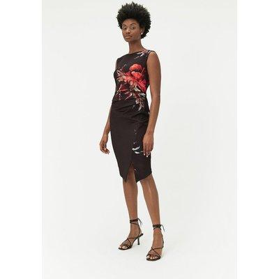 Ruched Scuba Dress Multi, Multi