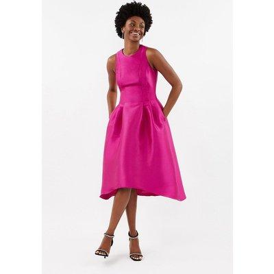 Twill Full Midi Dress Purple, Purple