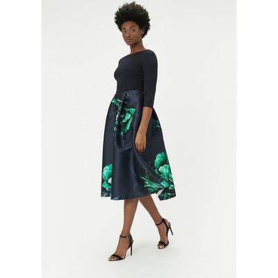 Full Skirt Midi Dress Multi, Multi