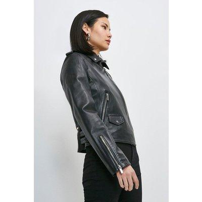Karen Millen Leather Ultimate Biker Jacket -, Black