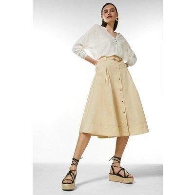 Karen Millen Cotton Utility Skirt -, Brown