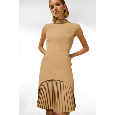 Karen Millen Petite Military Tailored Dress -, Camel