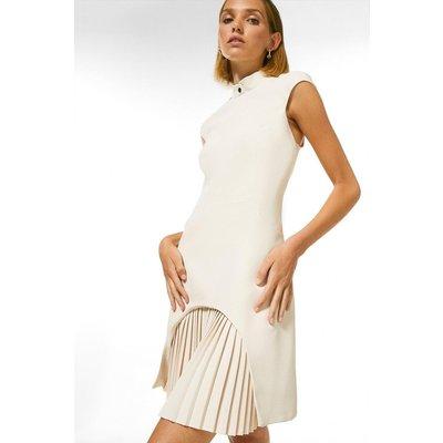 Karen Millen Petite Military Tailored Dress -, Cream