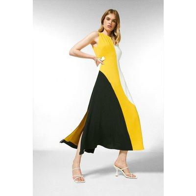 Karen Millen Colourblock Soft Strappy Back Dress, Multi