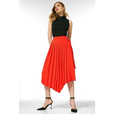 Karen Millen Soft TailoPleated Wrap Skirt -, Red