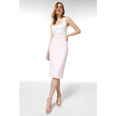 Karen Millen Luxe Viscose High Waist Pencil Skirt -, Pink