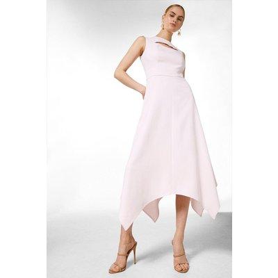 Karen Millen Luxe Viscose Tailored Midi Dress -, Pink