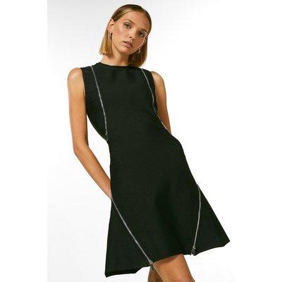 Karen Millen Petite Cross Back Dress With Recycle Yarn -, Black