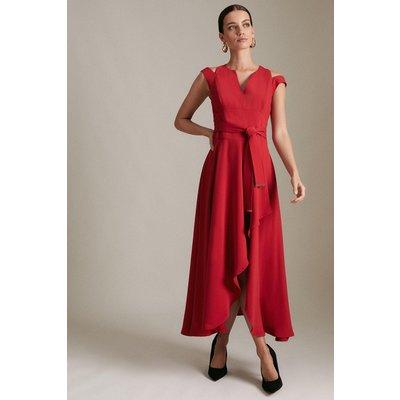 Karen Millen Petite Soft TailoWaterfall Dress -, Red