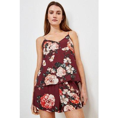 Karen Millen Rose Print Nightwear Cami -, Red