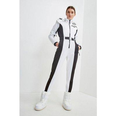 Karen Millen Colour Block All In One Ski Suit -, White