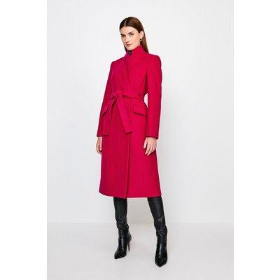 Karen Millen Notch Coat -, Navy