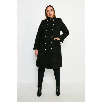 Karen Millen Curve Boucle Double Breasted Coat -, Black