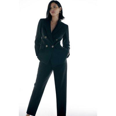 Karen Millen Label Italian Stretch DB Jacket -, Black