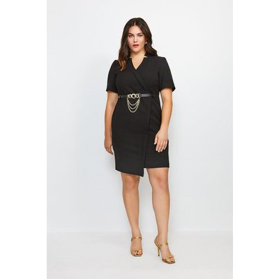 Karen Millen Curve Forever Chain Wrap Dress -, Black