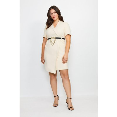 Karen Millen Curve Forever Chain Wrap Dress -, Cream