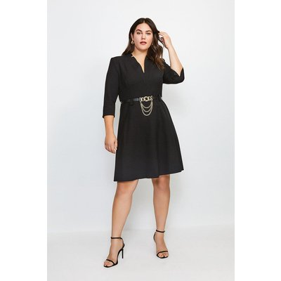 Karen Millen Curve Forever Chain Belt A Line Dress -, Black