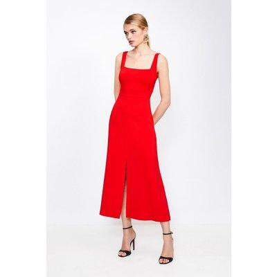Karen Millen Panelled Fluid Midi Dress -, Red