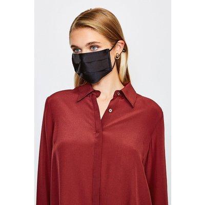 Karen Millen Fashion Silk Face Mask Covering -, Black