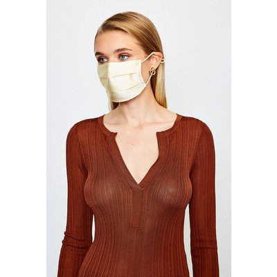Karen Millen Fashion Silk Face Mask Covering -, Ivory
