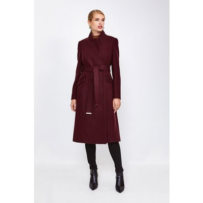 Karen Millen Classic Notch Collar Coat, Fig