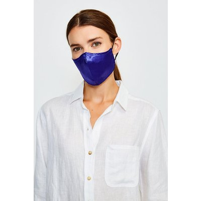 Karen Millen Reusable Fashion Print Face Mask With Filter -, Navy