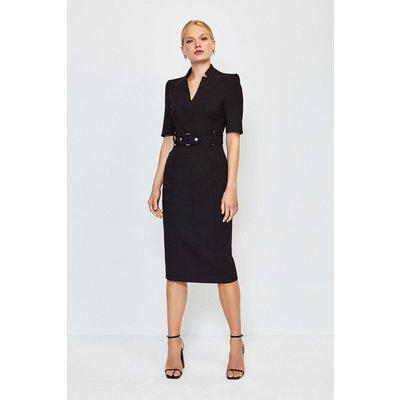 Karen Millen Forever Cinch Waist Pencil Dress, Black