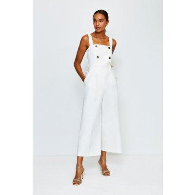 Karen Millen Sleek and Sharp Jumpsuit, Ivory