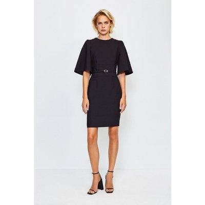 Karen Millen Flare Sleeved Shift Dress, Black