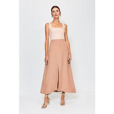 Karen Millen Panelled Fluid Midi Dress, Multi