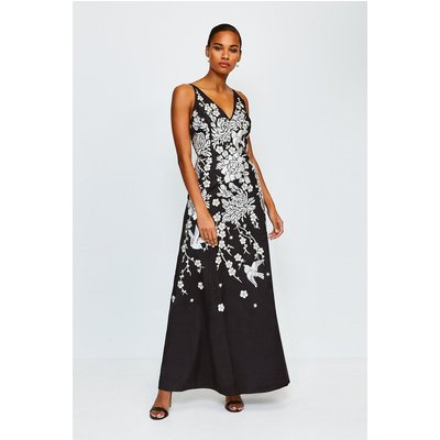Karen Millen Embellished Maxi Dress, Black
