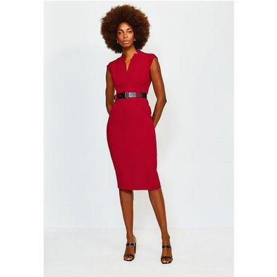 Karen Millen Forever Cap Sleeve Dress, Red