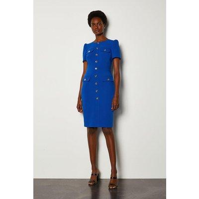 Karen Millen Utility Dress, Blue