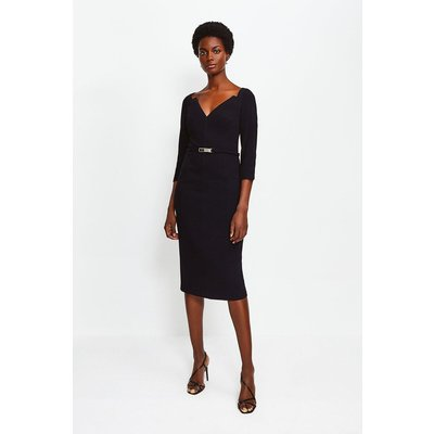 Karen Millen Forever Bar Belt Dress, Black