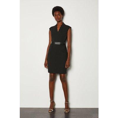 Karen Millen Forever Cap Sleeve Short Dress, Black