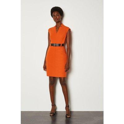 Karen Millen Forever Cap Sleeve Short Dress, Orange