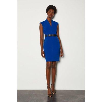 Karen Millen Forever Cap Sleeve Short Dress, Blue