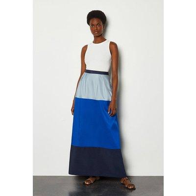 Karen Millen Colourblock Pencil Skirt, Blue