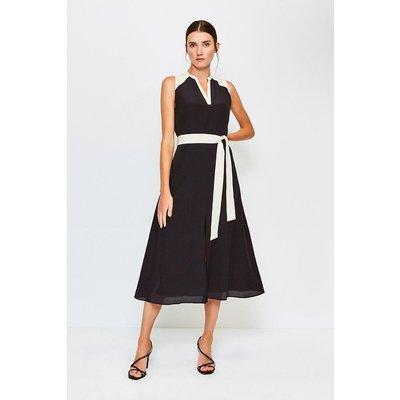 Karen Millen Silk Sleeveless Long Dress, Black