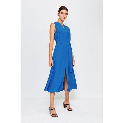 Karen Millen Silk Sleeveless Long Dress, Blue