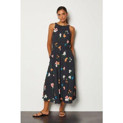 Karen Millen Printed Drawstring Midi Dress, Multi