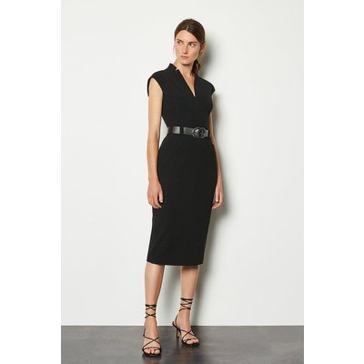 Karen Millen Forever Cap Sleeve Dress, Black
